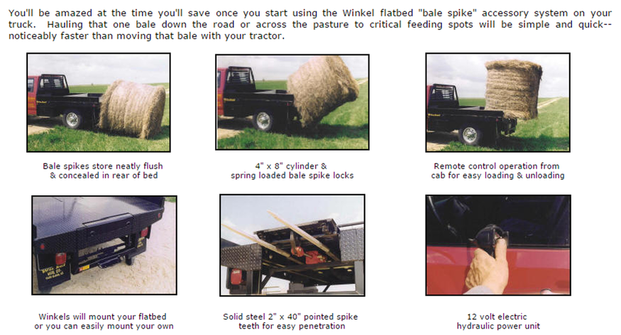 Truck Flatbed - Bale Carrier